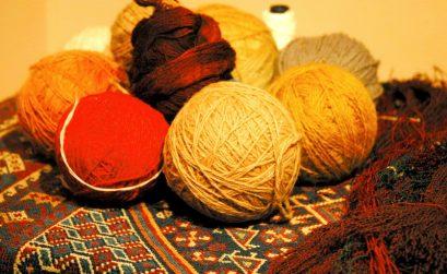Kostbare Wolle für Teppichreparatur