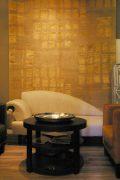 Hochwertiger Teppich in aktuellen beige und Goldtönen